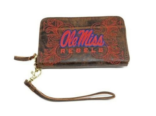 New leather university of Mississippi wristlet Ole Miss Rebels Gameday Boots