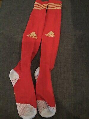 ADISOCK 12 Red Team Socks Football New Sealed 37-39 Size 4.5-6