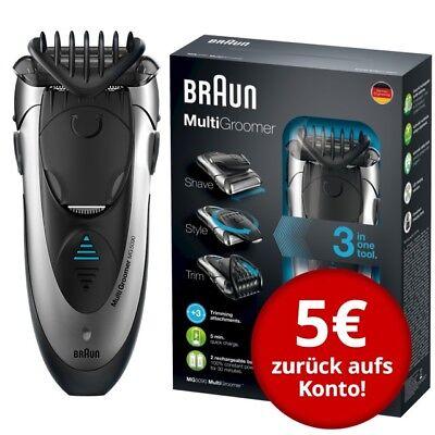 Braun MultiGroomer MG5090 rasieren trimmen stylen wet&dry