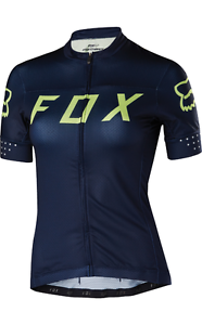 Fox Racing Womannens Switchback s s Jersey Navy YelLaag