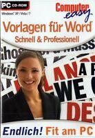 Vorlagen Für Word - Schnell & Professionell Neu Pc Cd Rom Win 7 Büro Software
