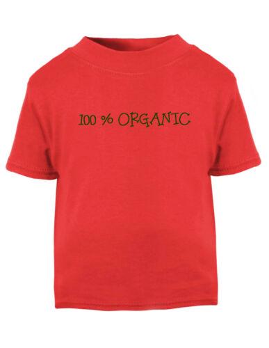 100/% Organic Cotton Toddler Baby Kid T-shirt Tee 6mo Thru 7t