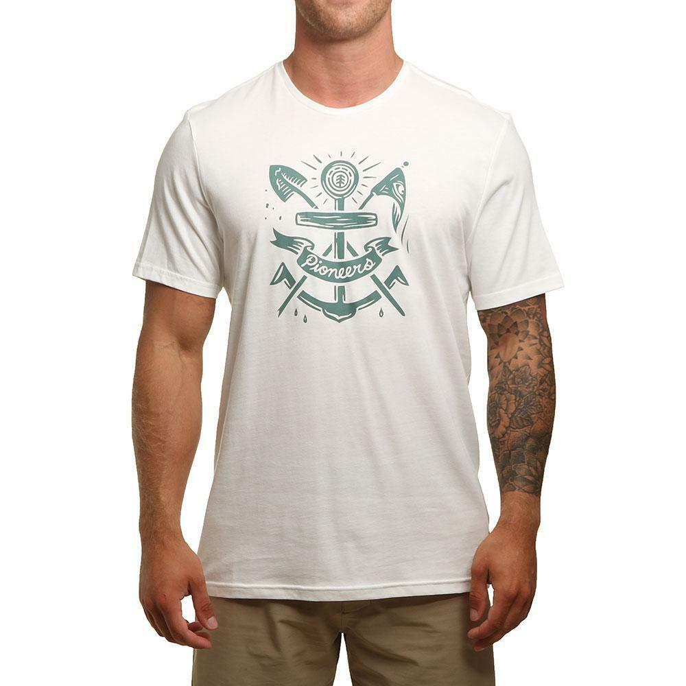 Element Pioneers Tee Bone White Element Men's Clothing T-Shirts