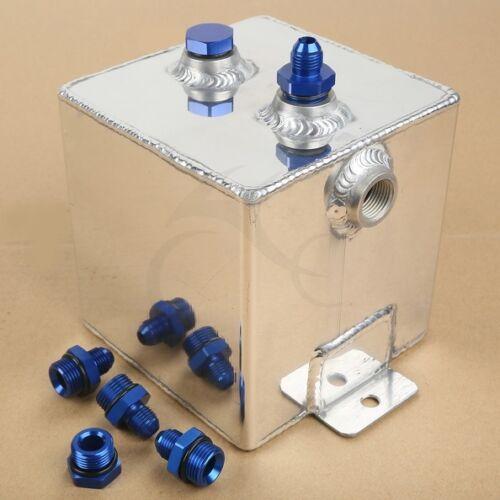 Universal Polished Alloy Aluminium 2 Litre Swirl Pot System Fuel Surge Tank Cell