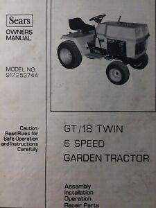 [DVZP_7254]   Sears Suburban 917.253744 GT/ 18 Lawn Garden Tractor Owner & Parts Manual  h.p | eBay | Wiring Diagram Sears Ss14 |  | eBay