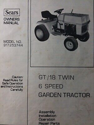 Sears Suburban 917.253744 GT/ 18 Lawn Garden Tractor Owner & Parts Manual  h.p | eBayeBay