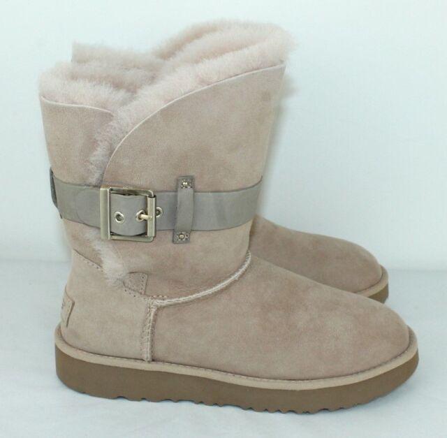 44fdd7638b3 UGG Australia Jaylyn Strap / Metal Buckle Twinface Boot Size 5.5 Driftwood  Tan