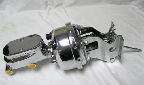 """Chevy Truck 7/"""" Power Booster Smooth Master Cylinder /& Mounting Brackets CHROME"""