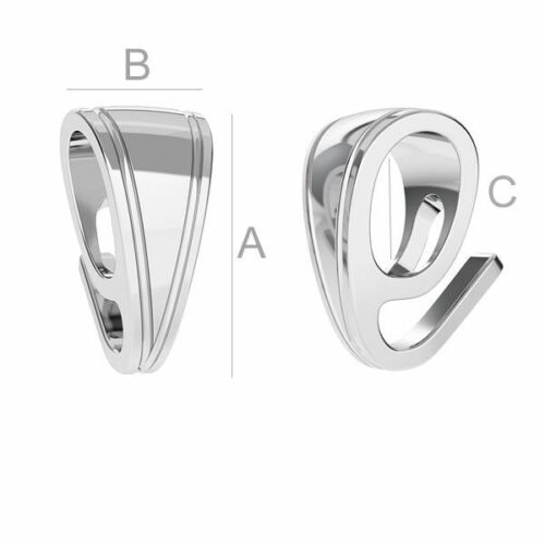 High Quality pinch Bail pendant Sterling Silver 925 best for Swarovski crystals