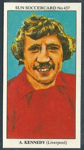 THE SUN 1979 SOCCERCARDS #437-LIVERPOOL-NEWCASTLE UNITED-ALAN KENNEDY