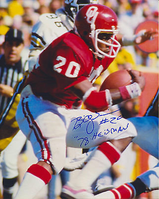 Billy Sims autographed 8x10 Oklahoma Sooners #3 Free ...