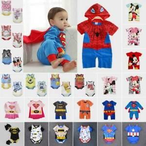 Newborn-Baby-Boy-Girl-Superman-Cartoon-Romper-Bodysuit-Jumpsuit-Outfits-Costume