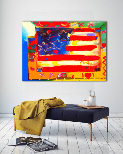 Peter Max art poster psychedelic 60s illustration bedroom wall decor