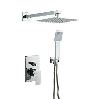 Bathroom Luxury Rain Mixer Shower Combo Set Wall Mounted Rainfall Shower System 691198886790 Ebay