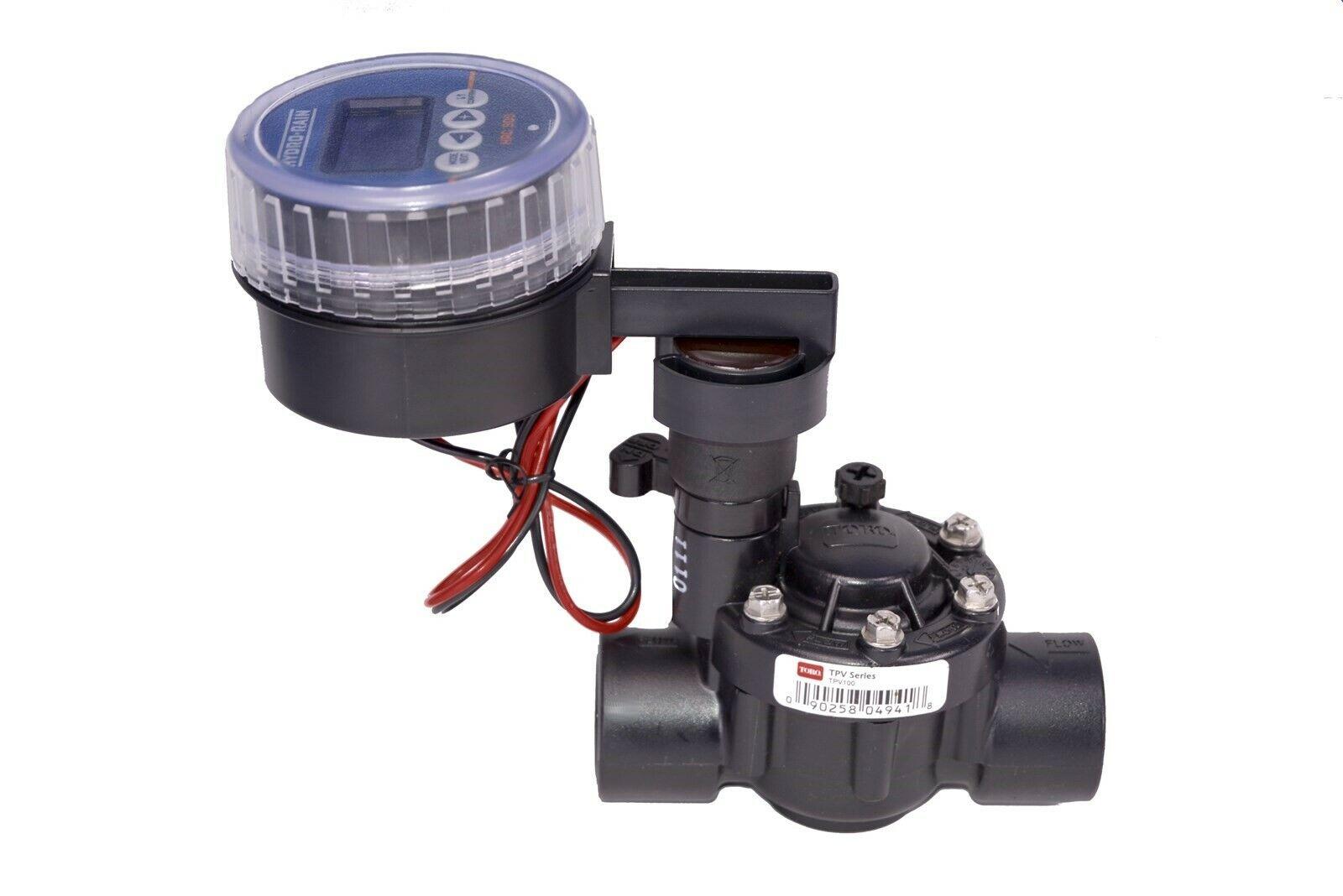 Toro Battery Operated Sprinkler Timer Bundle w/ TPV100 Valve & Hydro Rain HRC900