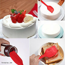 Silicone Cake Cream Butter Spatula Mixing Batter Scraper Brush Baking Tool