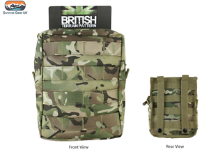 BTP-MTP-Style-MOLLE-Large-Zipped-Army-Utility-Webbing-Pouch-RAF-Security-Airsoft