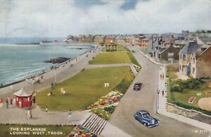 "Scotland Postcard - The Esplanade Looking West, Troon - ""Art Colour"" T10232"