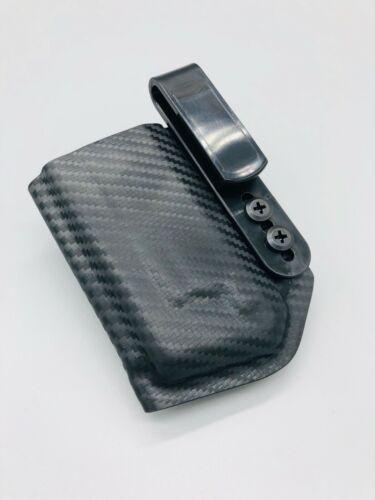 Ruger 5.7 Single Magazine Pouch Black Carbon Fiber Kydex Inside Waistband IWB US