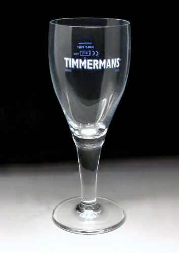Personalised Timmermans Stemmed Belgian Ale Footed Half Pint Beer Glass Engraved