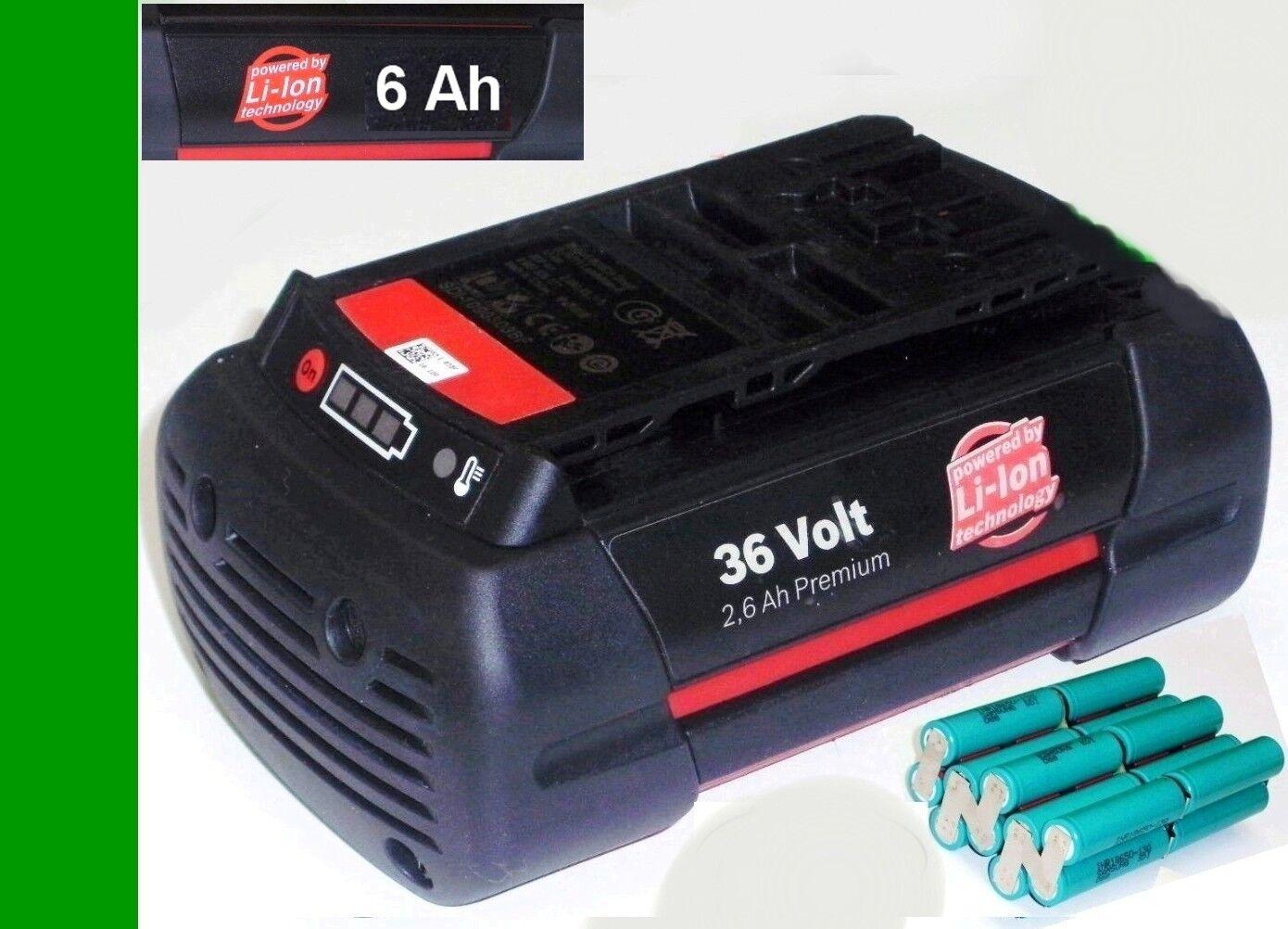 Zellentausch für Original Bosch Akku 36 V Li 36 Volt   mit 6 Ah Samsung Zellen
