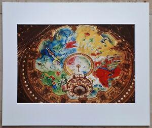 MARC-CHAGALL-Anno-1965-Pariser-Oper-Deckengemaelde-Teilstueck-1-von-6-50x60cm-PP