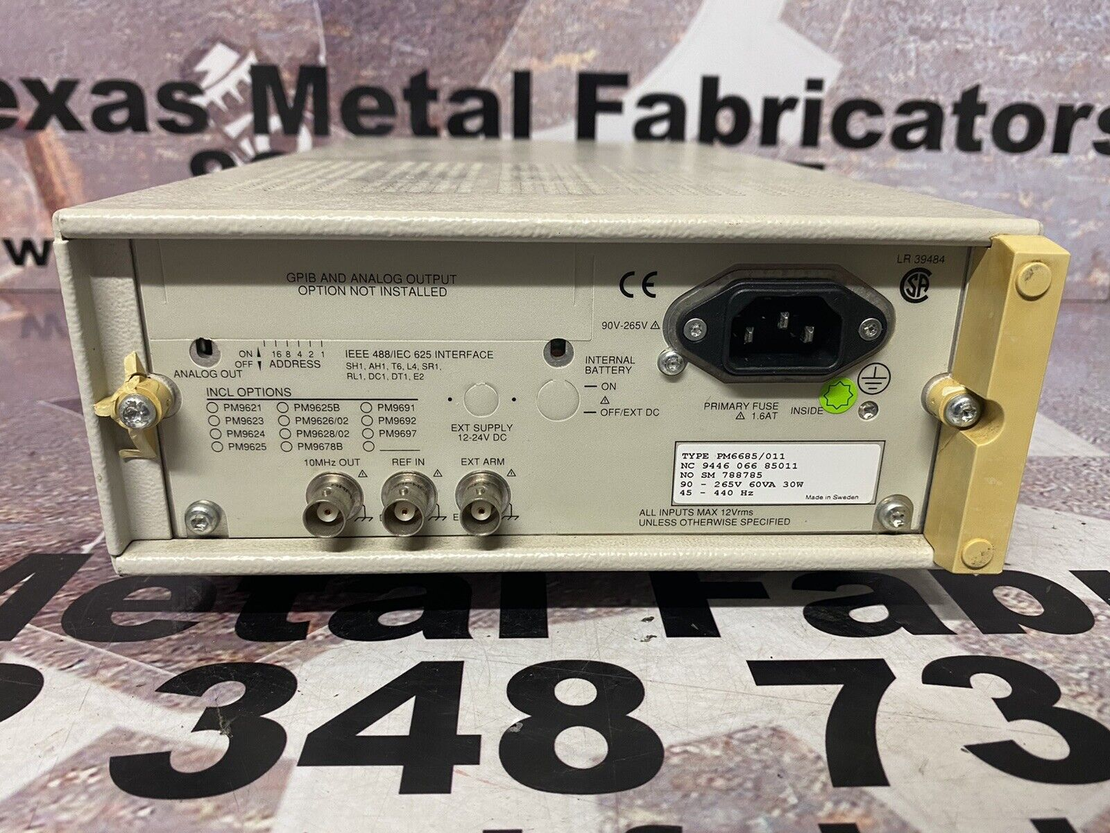Tested Details about  /Fluke PM6685 Universal Frequency Counter 300MHz