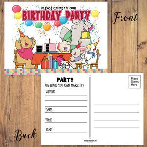 Image Is Loading Happy Birthday Invitation Postcards 25 Invites