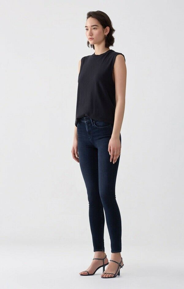 RARE AgoldE Sophie High Rise Vacant Waisted Skinny Dark Wash Stretch Jeans 25x30