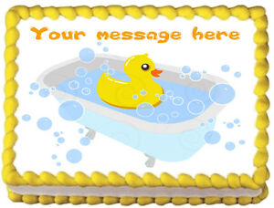 RUBBER DUCK Edible image cake topper decoration