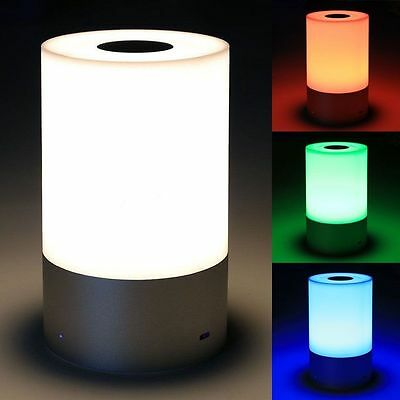 Smart Touch Dimmable LED RGB Color Changing Atmosphere Desk Table Bed Lamp Light