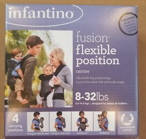 Details About Brand New Infantino Fusion Flexible Position Baby Carrier Grey Infant Back Pack