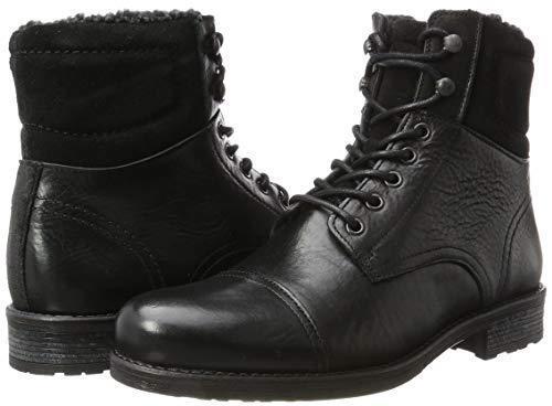 ALDO  Herren SENEHAUZ BLACK LEATHER ANKLE Stiefel Schuhe UK 12 EU 46 MILITARY STYLE BN