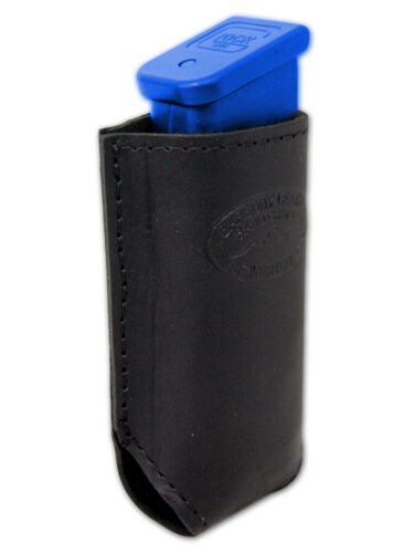 New Barsony Black Leather Yaqui Holster Mag Pouch Smith /& Wesson M/&P Comp 9mm