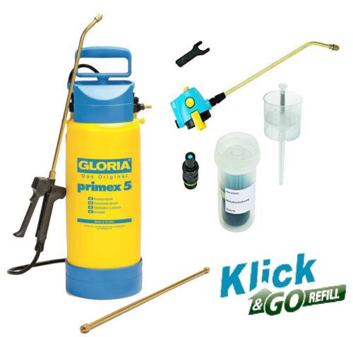 Sonderset Klick /& Go Refill GLORIA PRIMEX 5  Drucksprühgerät Sprühgerät