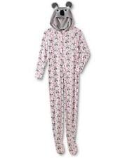 3c7fdf401 Women s Joe Boxer Reindeer Christmas Footie Footed Fleece Pajamas ...