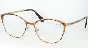 C-ZONE M1211 70 BROWN /GOLD EYEGLASSES GLASSES METAL FRAME CZONE 52-17-140mm