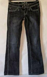 Miss-Me-Womens-Jeans-Dark-Wash-Size-25