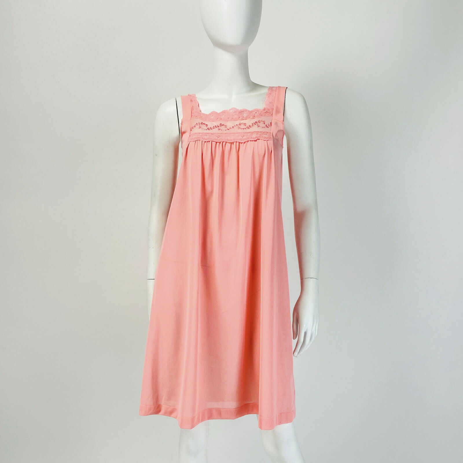 60s70s sheer night gown