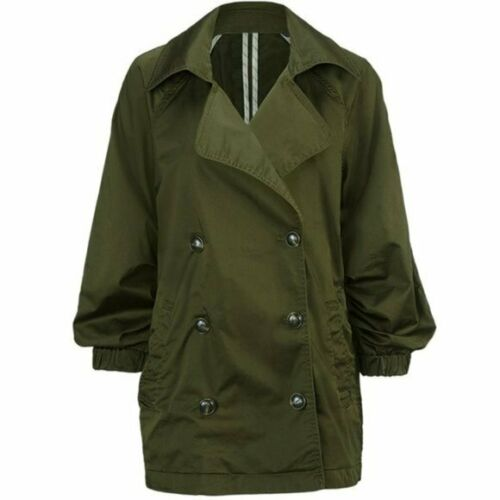 CAbi Expedition Olive Army Green Trench Coat Light