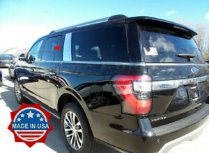 2018-2020-Ford-Expedition-Rear-Cargo-2Pc-Chrome-Pillar-Post-Trim-Stainless-Steel
