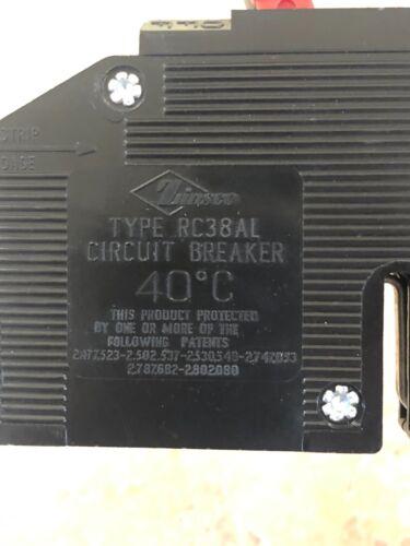 1 ZINSCO RC-38 TWIN 20 AMP BREAKER