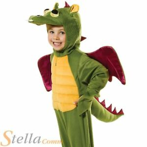 Image is loading Child-Dragon-Costume-Fancy-Dress-Dinosaur-Fairytale-Child-  sc 1 st  eBay & Child Dragon Costume Fancy Dress Dinosaur Fairytale Child Boys Girls ...