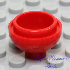 NEW Lego Minifig RED FLOWER POT Kitchen Food Bowl 2 x 2 Round Dome Plunger Brick
