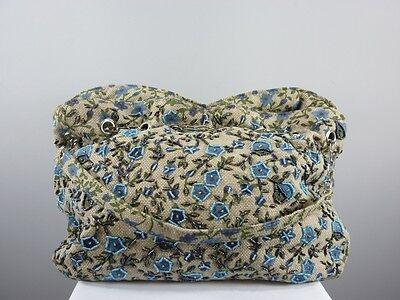 Bunte Stofftasche mit Blütenmuster, Perlenbestickung, Beuteltasche TA7 00065