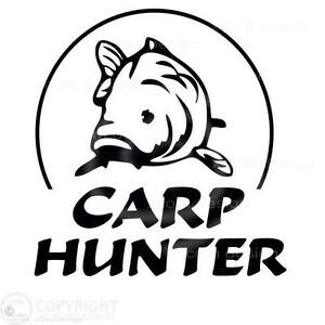 Carp hunter,car window vinyl sticker//decal,fishing hunt fish hunter