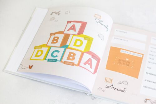 for all Families Including Gay Orange Cover Lesbian Parents Baby Record Book