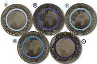 Deutschland 2016: 5 Euro Gedenkmünzen Planet Erde ADFGJ Stempelglanz komplett