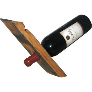 Image Is Loading Handmade Wooden Single Wine Bottle Holder Modern Display