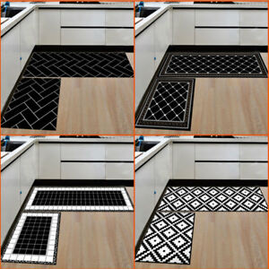 2pcs Home Kitchen Floor Mat Non Slip Runner Anti Fatigue Rug Carpet Mat Decor Au Ebay